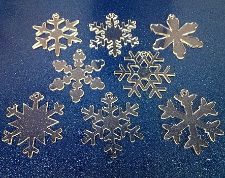 Acrylic Snowflake Decorations Manchester Craft Blanks